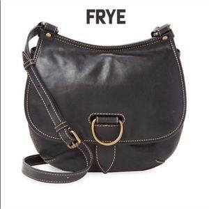 Frye   Lucy black leather crossbody purse